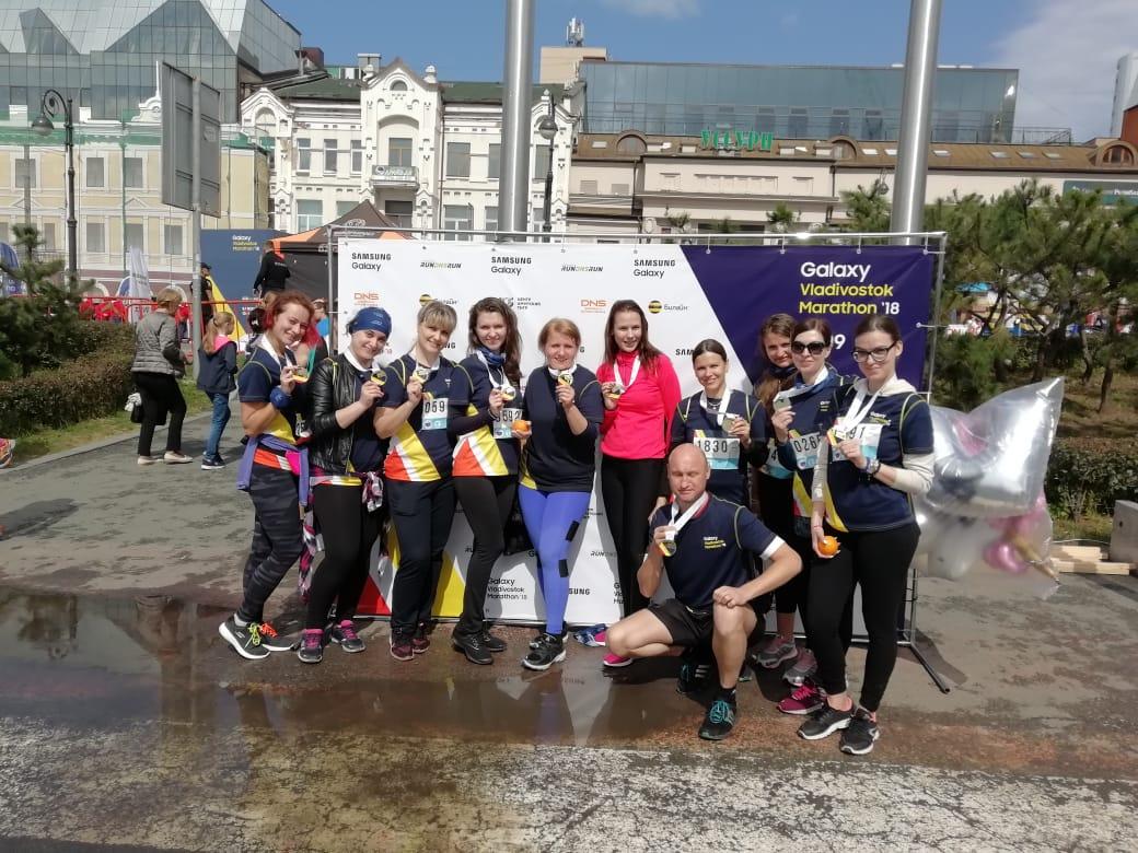 """Участие """"Аквамарин"""" в марафоне Владивосток 2018"""